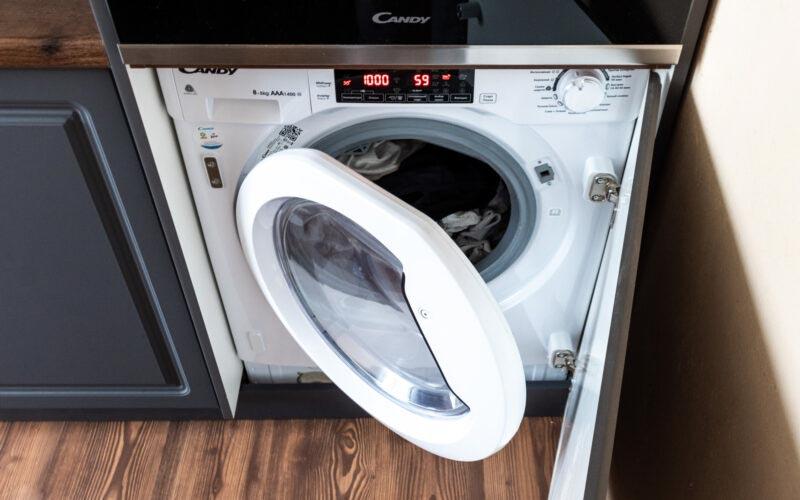 Встраиваемой стиральной машины с сушкой Candy CBWD 8514TWH — идеальное решение для маленькой кухни © Я поел!