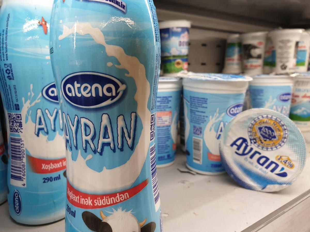 пробуем азербайджанский айран на вкус