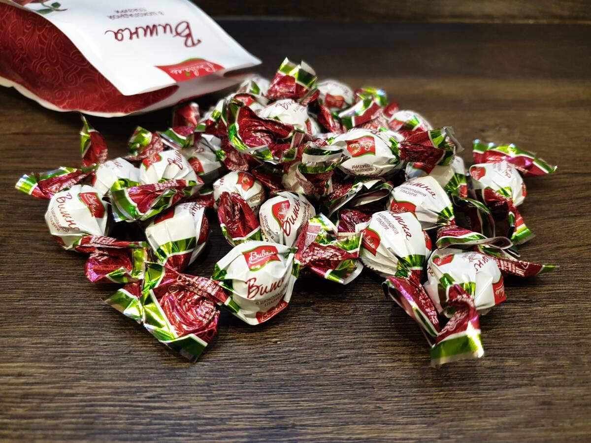 Пробуем конфеты «Виваль» вишня в шоколадной глазури