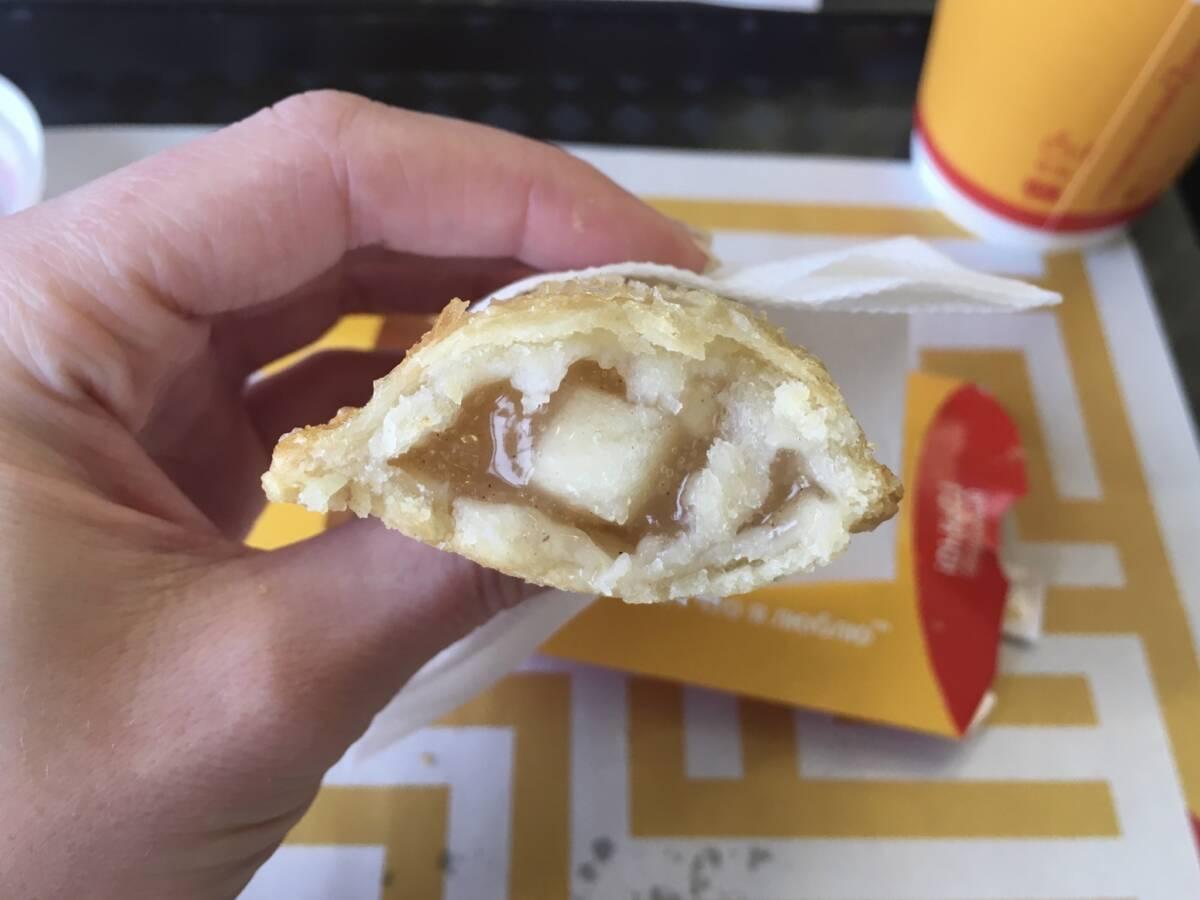 Рождественский пунш и яблочный пирожок от Макдоналдс