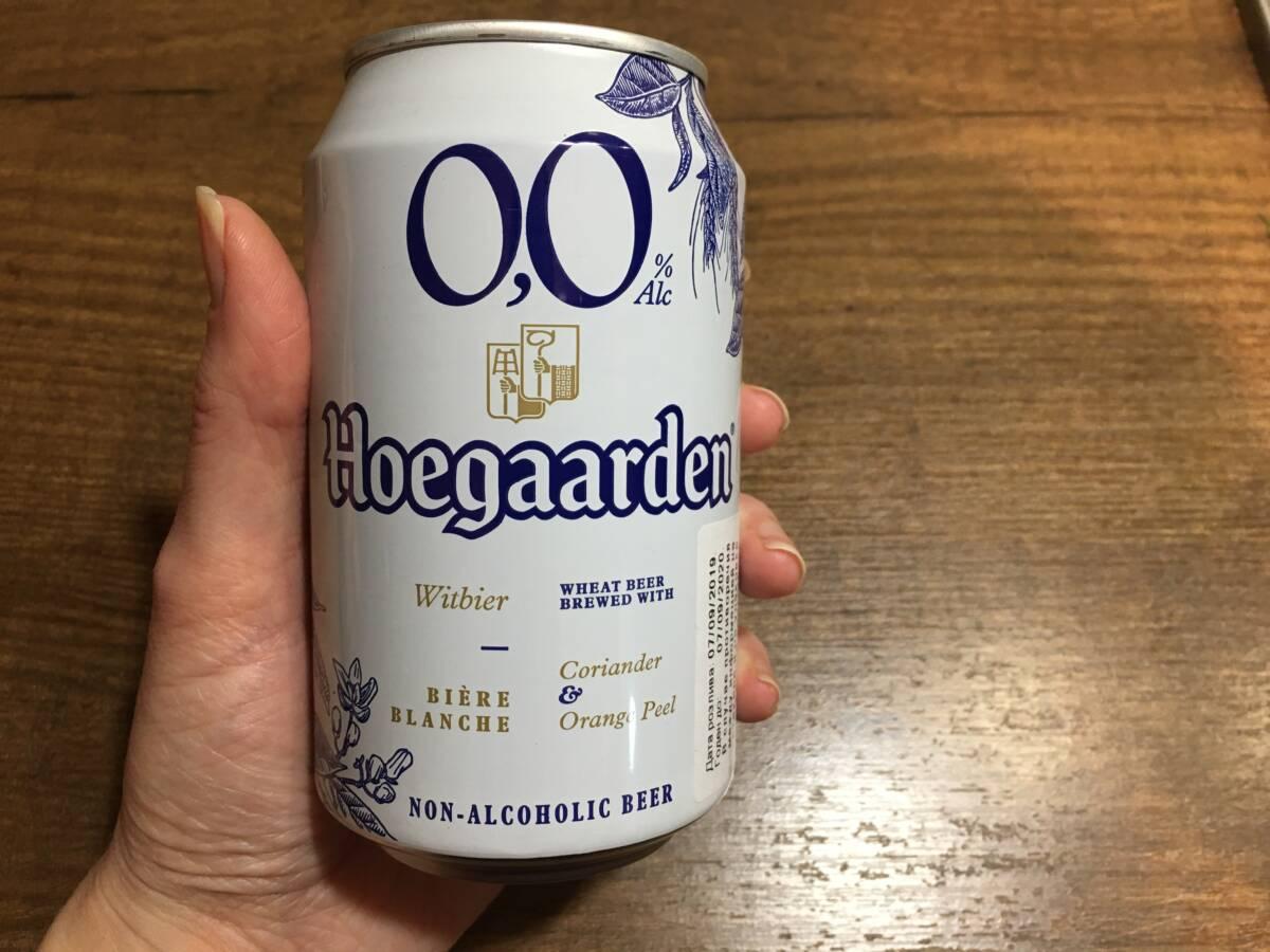 Пробуем пиво безалкогольное «Hoegaarden» в жестяной банке 0,33 л