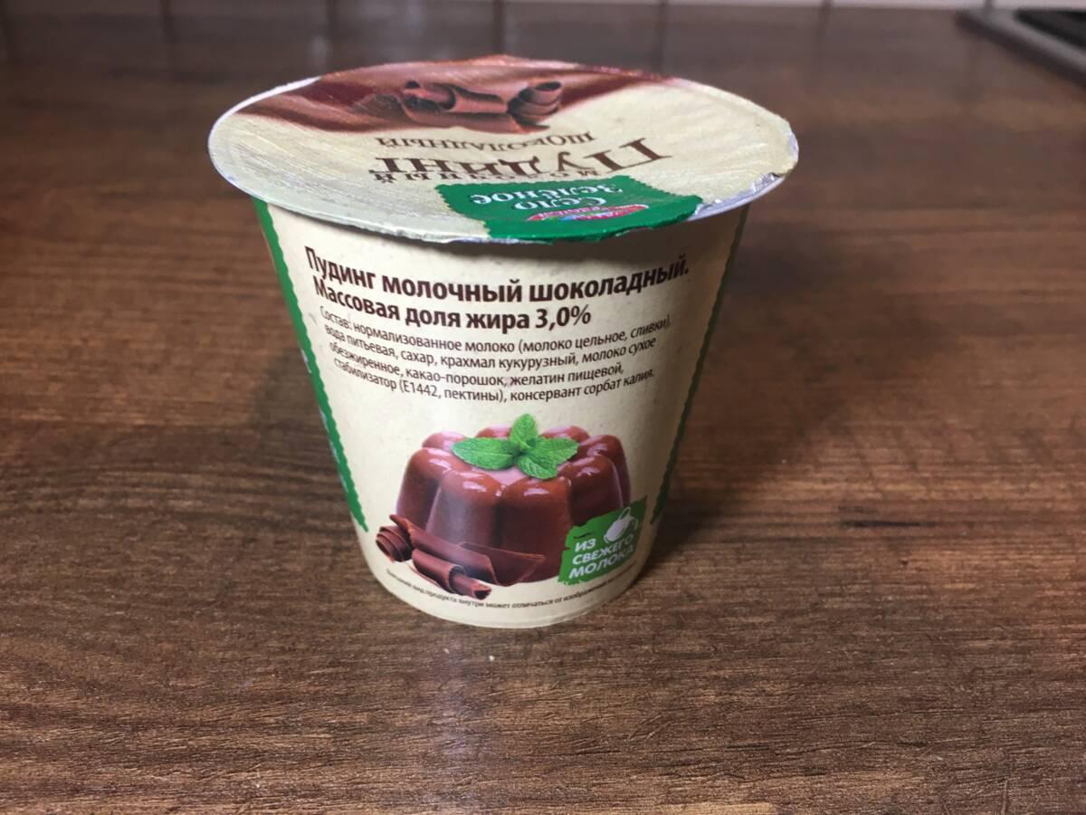 Пробуем пудинг молочный шоколадный и со вкусом ванили «Село Зелёное»