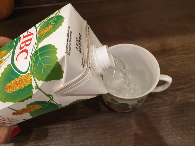 Пробуем берёзовый сок с сахаром «ABC»